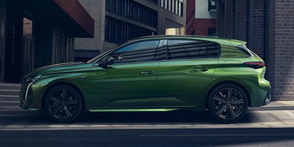 Nouvelle Peugeot 308 vue de côté
