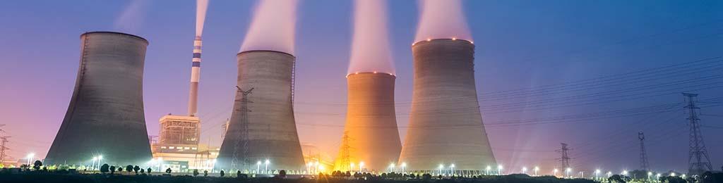 Production d'électricité - centrale de nuit