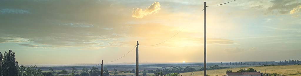 Distribution d'électricité ligne basse tension