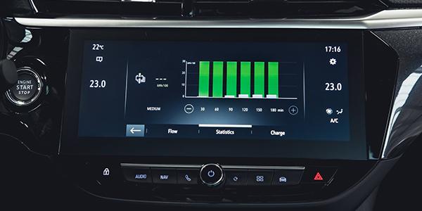 Opel Corsa e écran tactile
