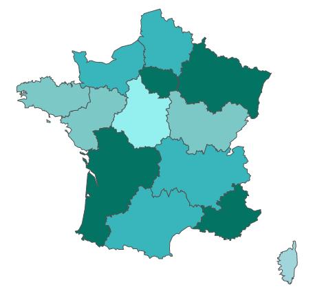 Carte de la France de biomasse-énergie