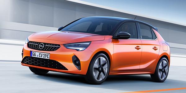 Opel Corsa e vue avant