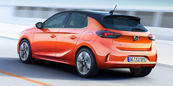 Opel Corsa e vue arrière
