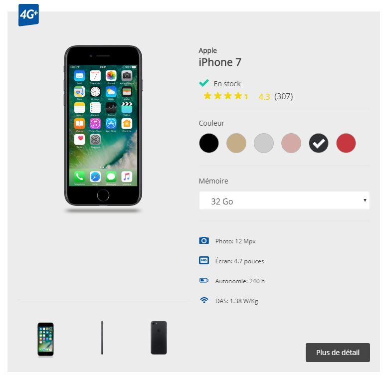 Acquisition d un iPhone 7 32 Go chez Bouygues Telecom B YOU dans le cadre  d un abonnement classique et d une offre low-cost c0a26545a314
