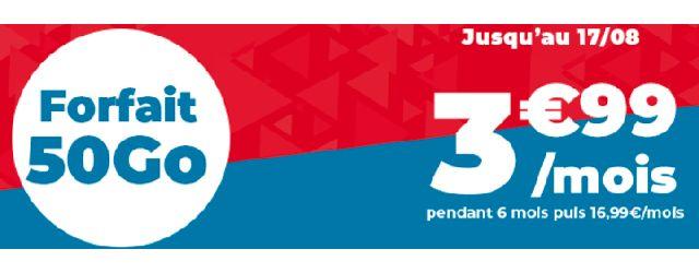 Profitez du Forfait 50 Go à 3€99 chez Auchan Telecom !