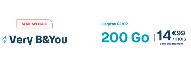 Bouygues Telecom lance une offre B&YOU exceptionnelle à 14€99 pour 200 Go de data !