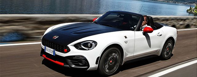 mini cooper jcw cabrio et fiat 124 spider abarth. Black Bedroom Furniture Sets. Home Design Ideas