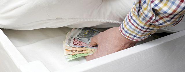 conserver de l'argent liquide chez soi