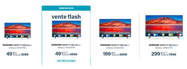 Offre Smart TV Samsung avec Bouygues Telecom : 49€ au lieu de 499€ !