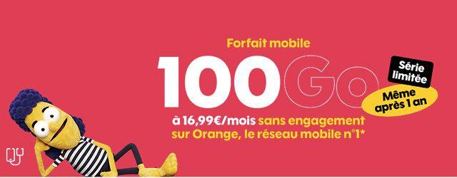 Nouvelle offre Sosh en série limitée avec 100Go à 16€99 par mois !