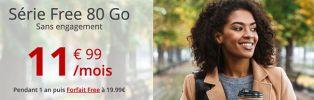 La série Free 80 Go est à 11€99 jusqu'au 15 décembre !
