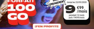 NRJ propose une offre exceptionnelle de 100Go à 9€99/mois seulement !